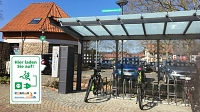 eBike Ladestation am Kornmagazin