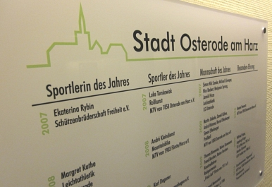 Ehrentafel Sportlerehrung - Shortnews