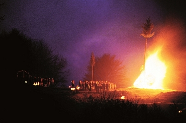 Osterfeuer, alte Tradition im Harz © Stadt Osterode am Harz
